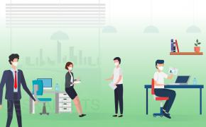 رعایت فاصله گذاری اجتماعی در محل کار