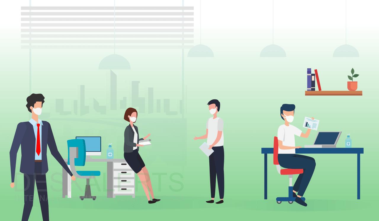 فاصله گذاری اجتماعی در محل کار