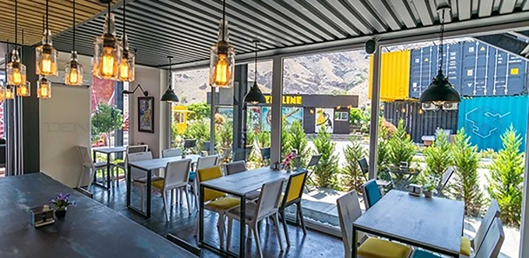 مبلمان مدرن کیوب کافه